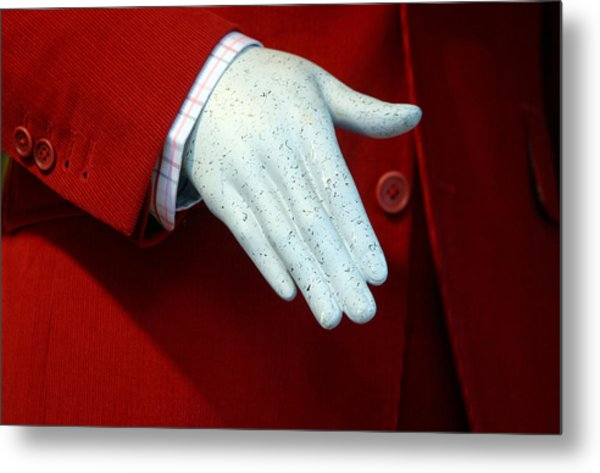 Red Handed Metal Print by Jez C Self