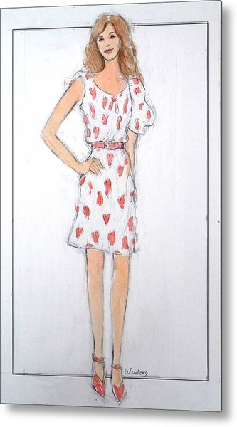 Red Heart Dress Metal Print