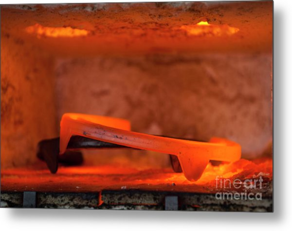Red Hot Horseshoe Metal Print