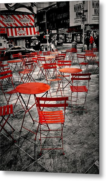Red In My World - New York City Metal Print