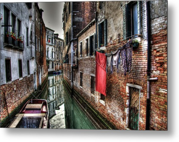 Red In Venice  Metal Print