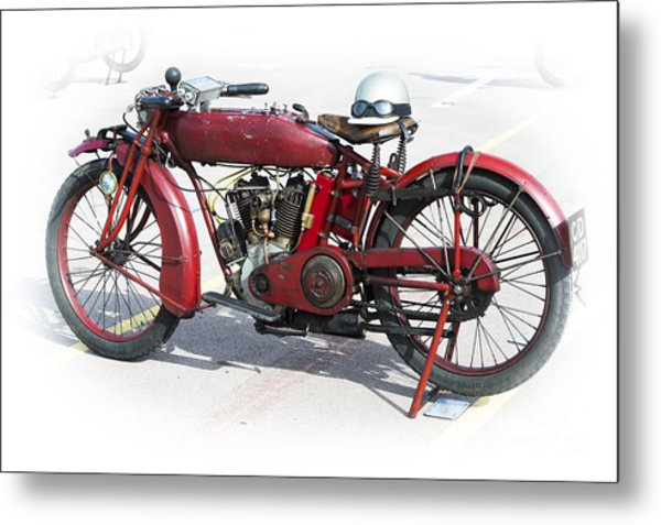 Red Indian Metal Print by Tim Gainey