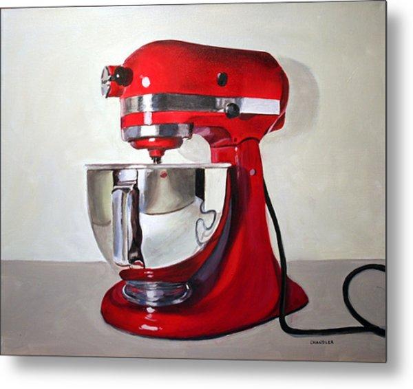 Red Kitchen Mixer Metal Print