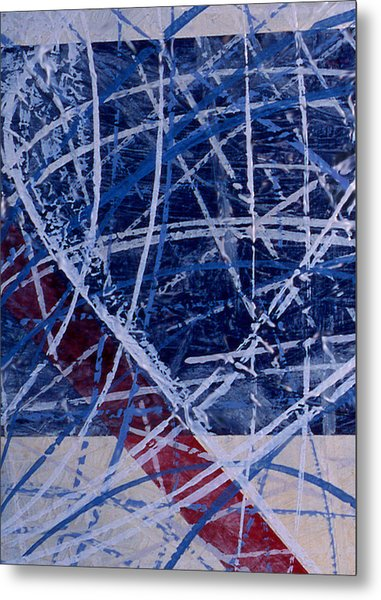 Red Line Blue Line Painting By Ken Yackel