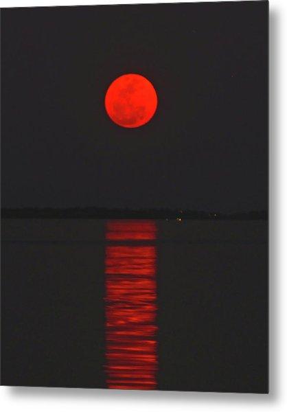 Red Moon Rising  Metal Print