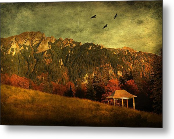 Red Mountain Metal Print by Endre Fulop