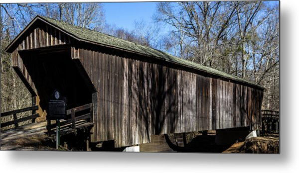 Red Oak Creek Covered Bridge Metal Print
