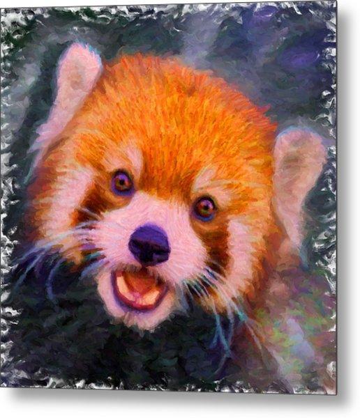Red Panda Cub Metal Print