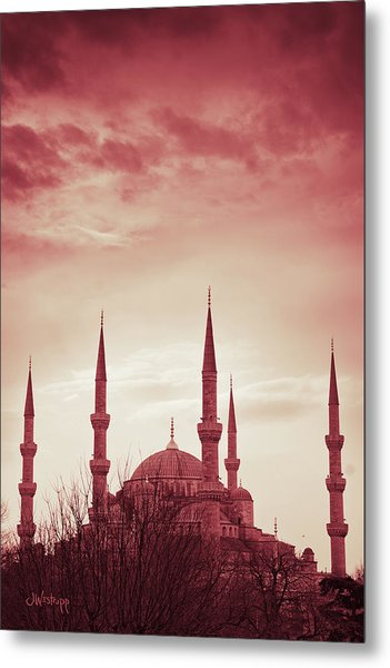 Red Peace Metal Print
