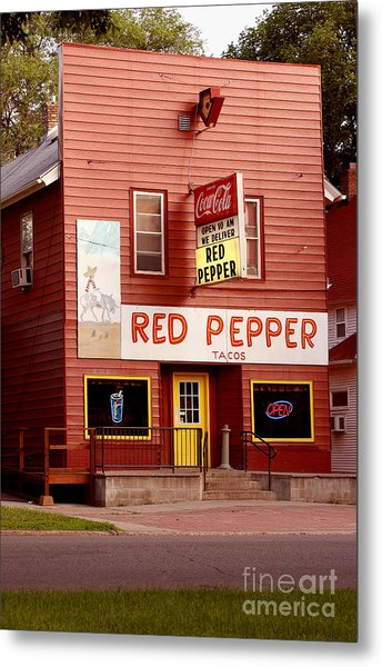 Red Pepper Restaurant Metal Print