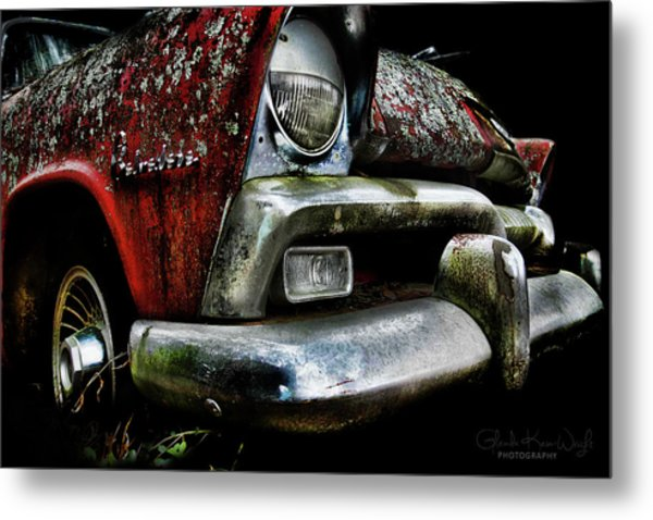 Red Plymouth Belvedere Metal Print