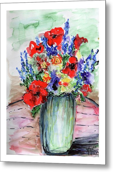 Red Poppies Metal Print