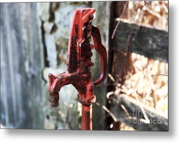 Red Pump Metal Print by John Rizzuto