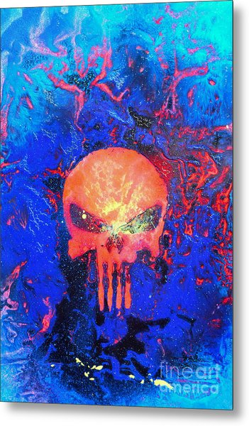 Red Punish Metal Print