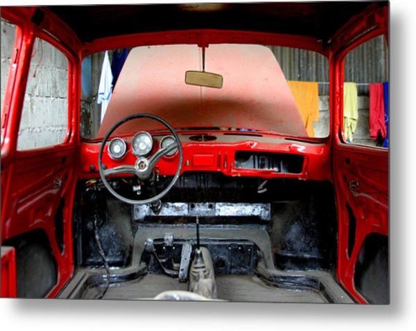 Red Ride Metal Print by Jez C Self