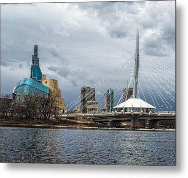 Red River At Winnipeg Metal Print