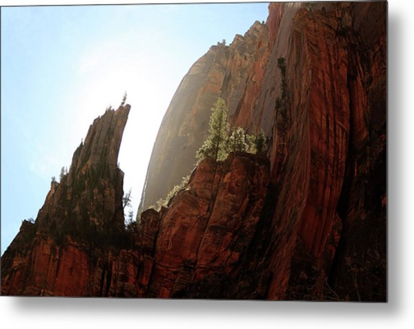 Red Rock At Zion Metal Print