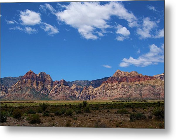 Metal Print featuring the photograph Red Rock Caynon2 by Ralph Jones