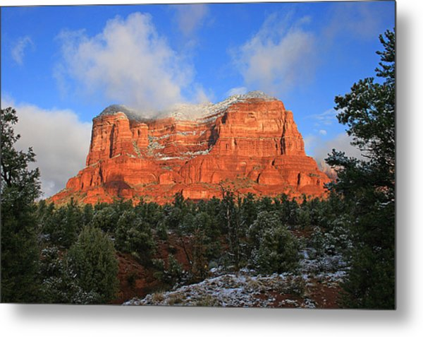 Red Rock Morning Metal Print