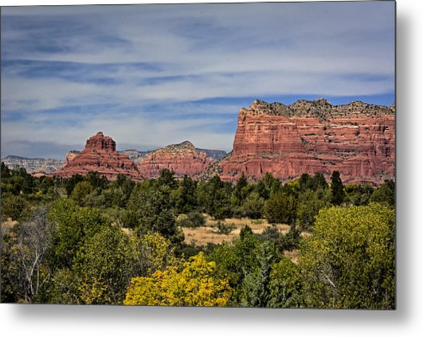 Metal Print featuring the photograph Red Rock Scenic Drive by John Gilbert