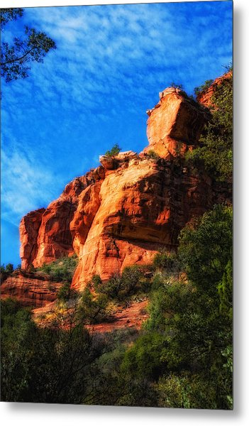 Red Rocks Number Four In Faye Canyon Metal Print