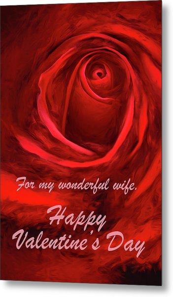 Red Rose II Metal Print