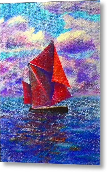 Red Sails Metal Print by Anastasia Michaels