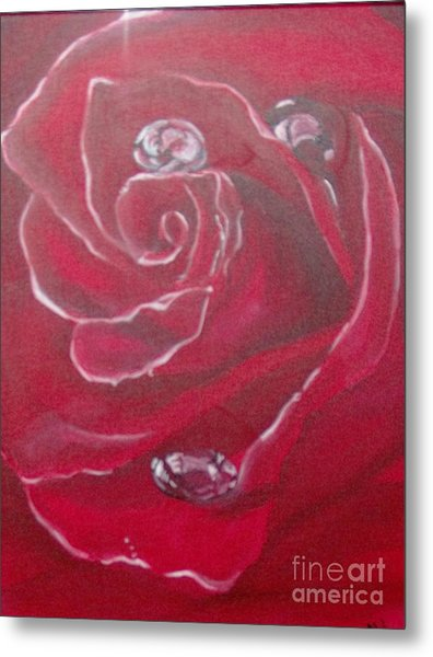 Metal Print featuring the painting Red by Saundra Johnson