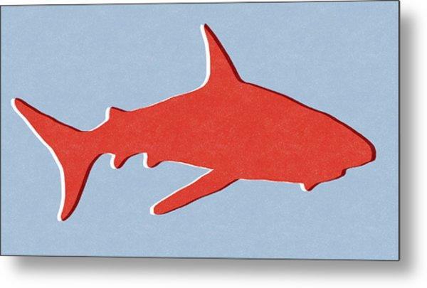 Red Shark Metal Print