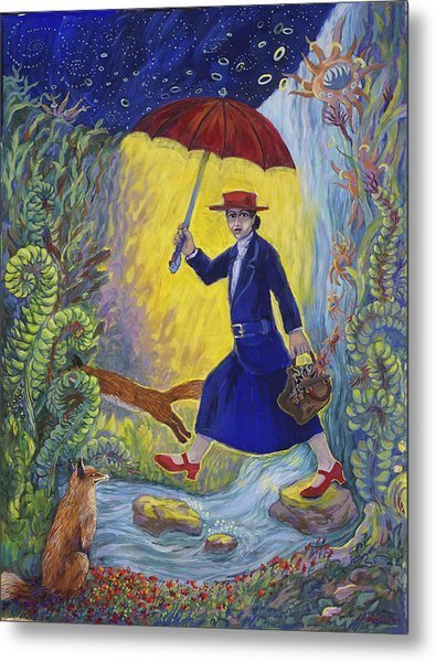 Red Shoes Mary Poppins Metal Print