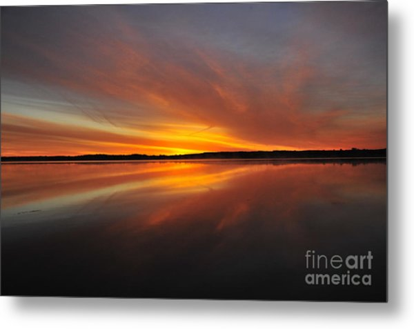 Red Sky At Morning Metal Print