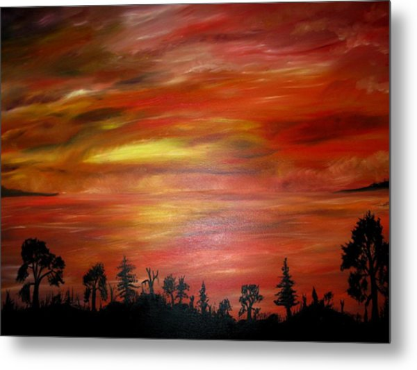 Red Sky Delight Metal Print by Michael Schedgick