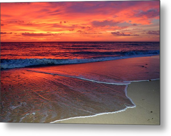 Red Sky In Morning Metal Print