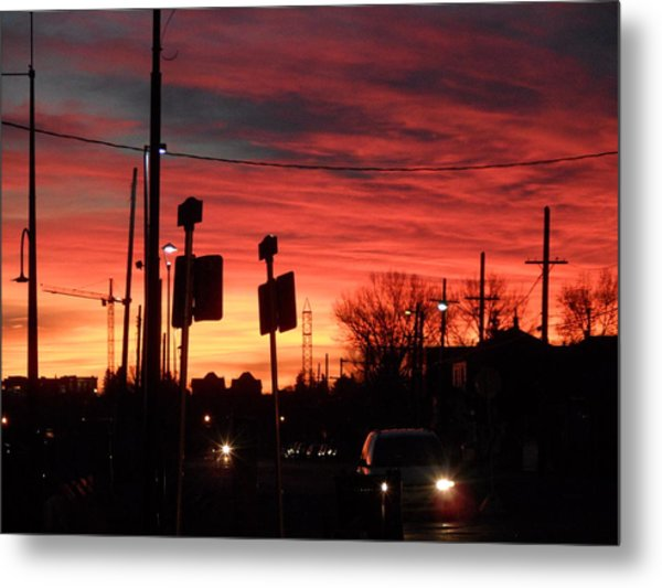 Red Sky Morning Metal Print