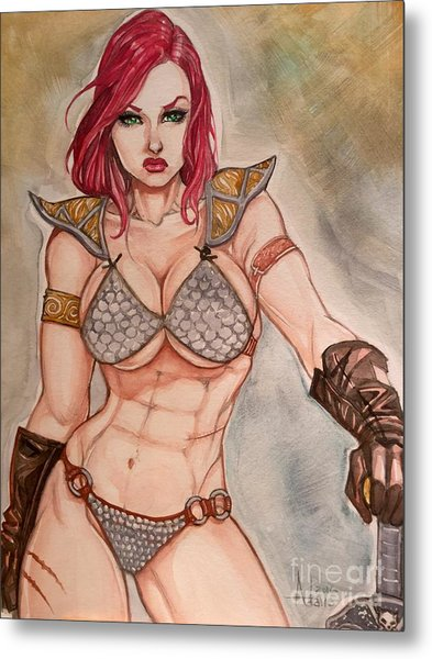 Red Sonja Metal Print