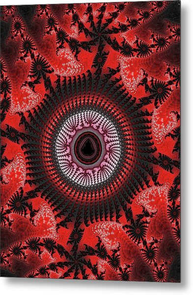 Red Spiral Infinity Metal Print