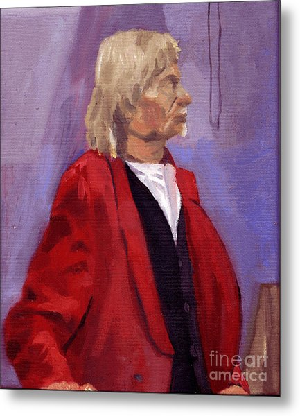 Red Sport Coat Metal Print by Timothy Winiarski