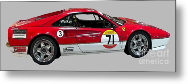 Red Sports Racer Art Metal Print
