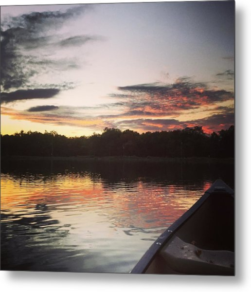 Red Spotted Sunset Metal Print