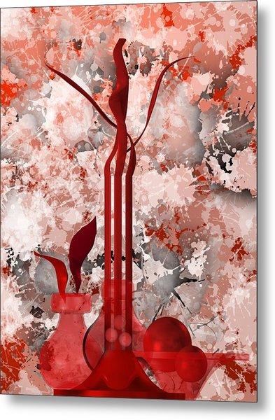 Metal Print featuring the digital art Red Stain Still Life by Alberto RuiZ