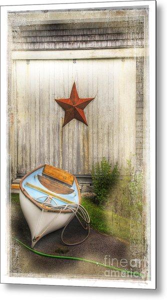 Red Star Boat Metal Print