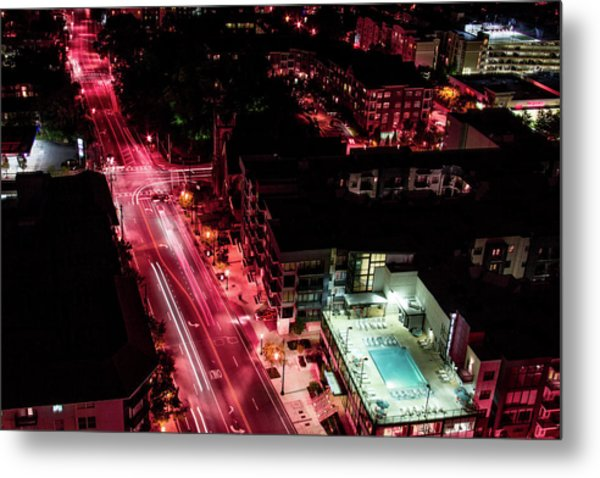 Red Streets Metal Print