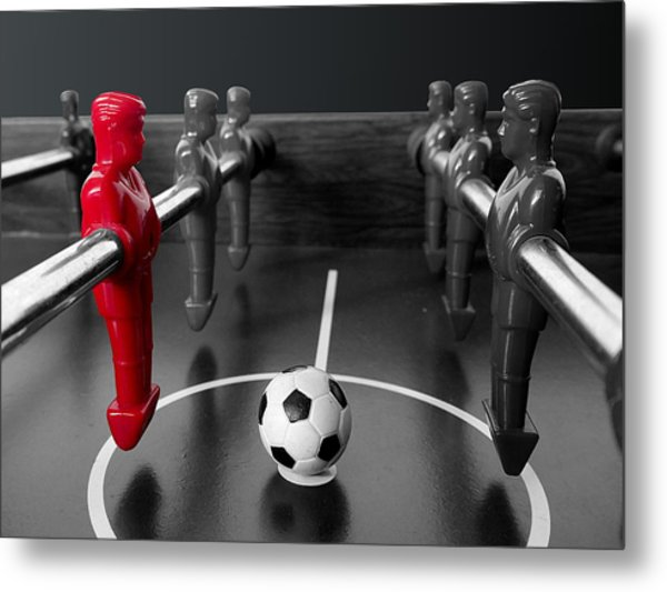 Red Striker Metal Print