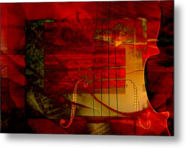 Red Strings Metal Print