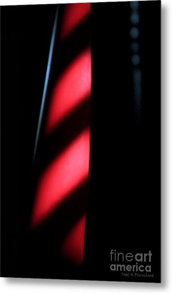 Red Stripes Metal Print