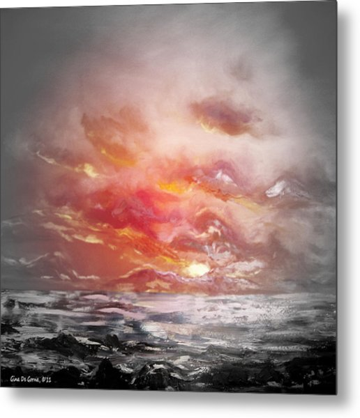 Red Sunset 77 Metal Print