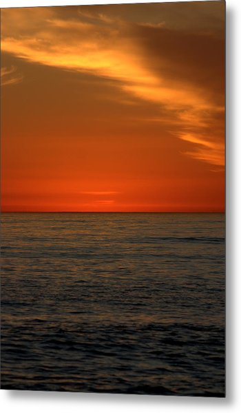 Red Sunset Metal Print by Brad Scott