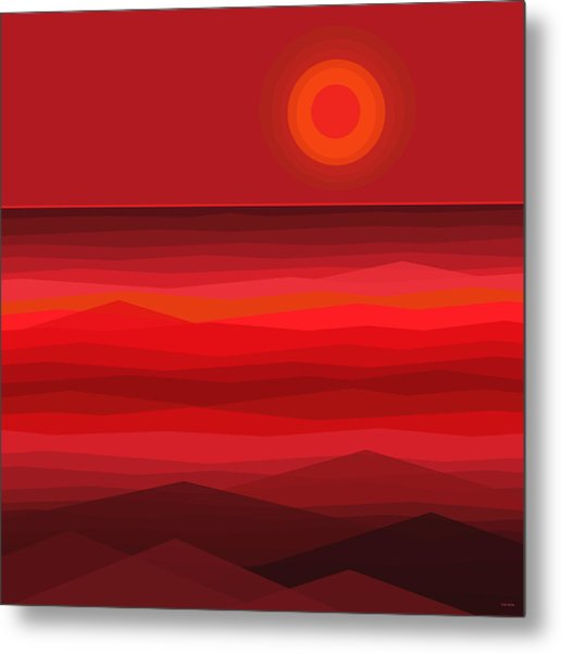 Red Sunset Metal Print