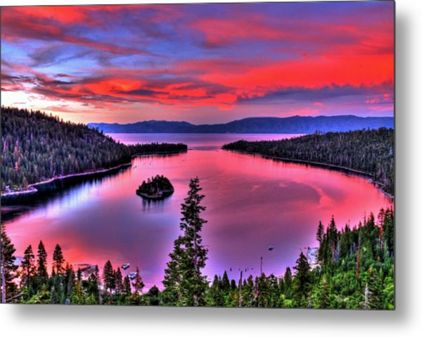 Red Tahoe Metal Print
