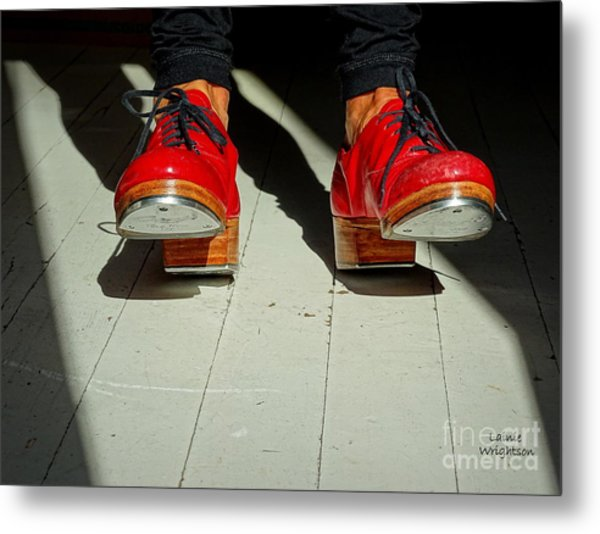 Red Tap Shoes Metal Print